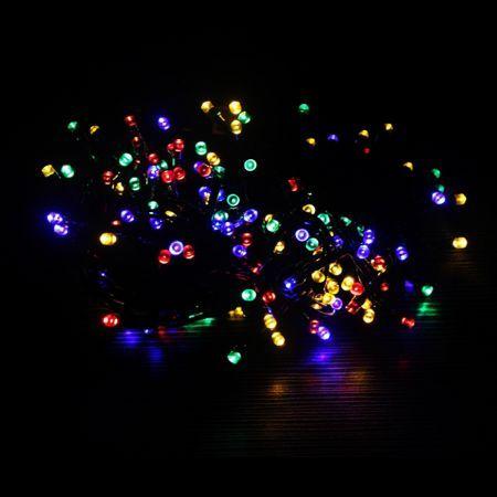 200 Led Christmas Solar Fairy Lights Multi Coloured Crazy Sales