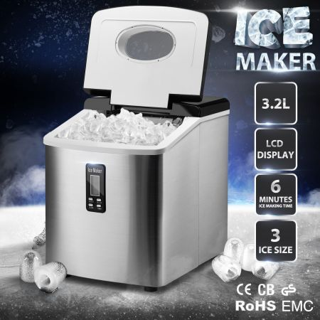 Silver 3.2L Home Ice Maker
