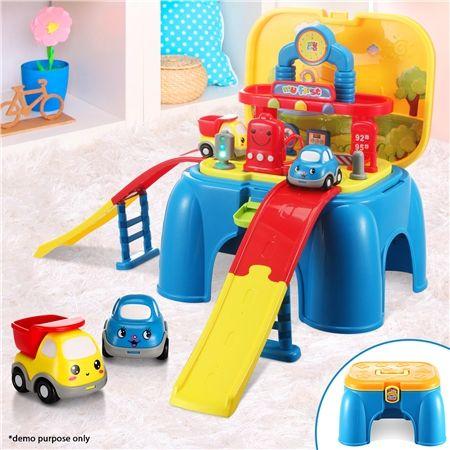 Kids Gas Station Toy Box
