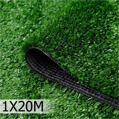 Artificial Grass 20 SQM Polypropylene Lawn Flooring 1 x 20M - Olive Green