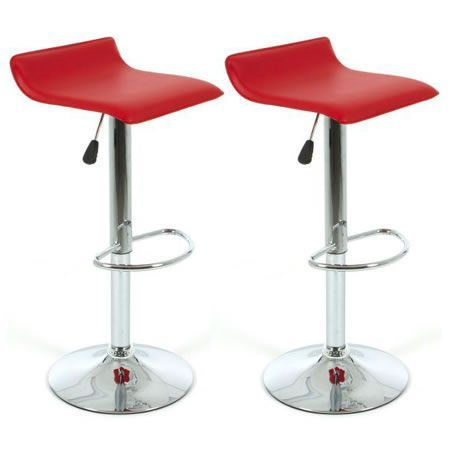 2x Sense PU Leather Bar Stool - Red