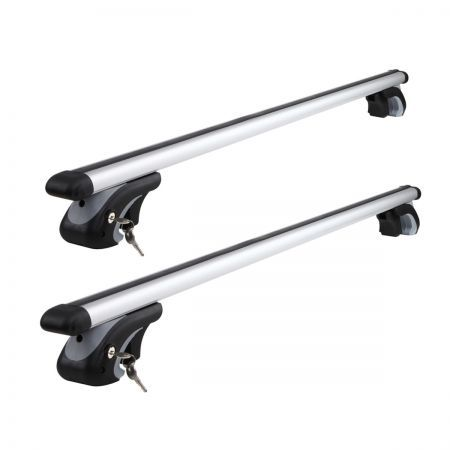 Mitsubishi Pajero NP-NW Universal Aluminium Car Roof Rack Cross Bar with Security Lock 1350mm - Silver