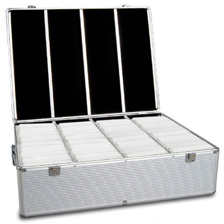 Aluminium CD DVD Bluray Storage Case Box 1000 Discs