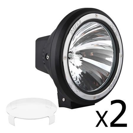 Set of 2 7 Inch HID Spiral Spot Driving Lights 100W