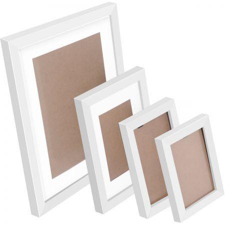 26 pcs Photo Frames Set Wall - White | Crazy Sales