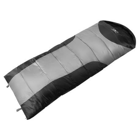 Camping Envelope Sleeping Bag Single - Grey black