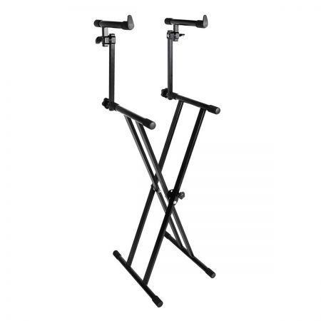 double type x piano keyboard stand 2 tier crazy sales. Black Bedroom Furniture Sets. Home Design Ideas