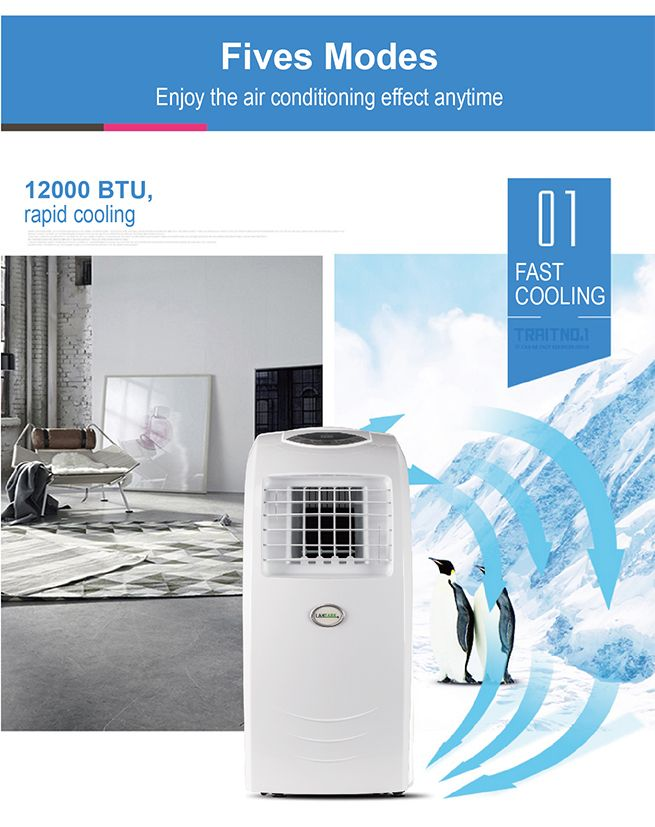 maxkon 12000 btu 4 in 1 portable air conditioner fan dehumidifier heater reverse cycle
