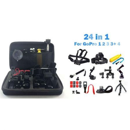 Head Chest Mount Floating Monopod Pole Accessories Kit For GoPro Hero 1 2 3 3+ 4