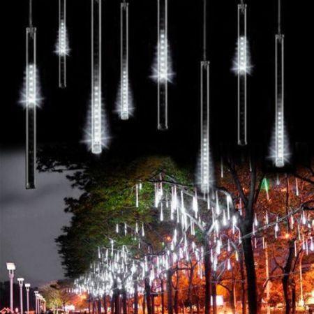 White 50cm Meteor Shower Rain Led Light Christmas Decoration Tree Party Valentine