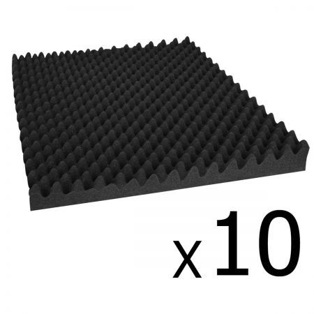 Studio 10 Eggshell Acoustic Foam 50 x 50cm - Black