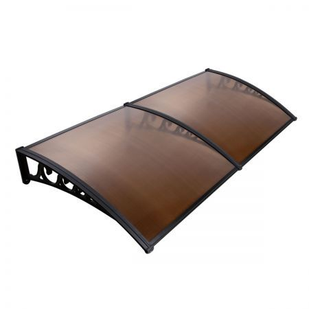 DIY Window Door Awning Cover 100 x 200cm - Brown