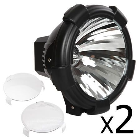 Set of 2 9 Inch HID Spiral Spot Driving Light 100W