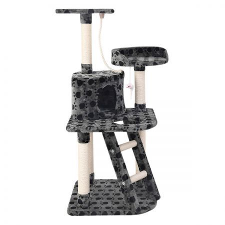Cat Scratching Poles Post Furniture Tree House Condo - Black Grey