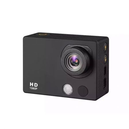 HD18A Full HD 1080P 2-inch Touch Screen Waterproof Sports Action Camera - Black