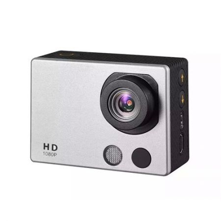 HD18A Full HD 1080P 2-inch Touch Screen Waterproof Sports Action Camera - Silver