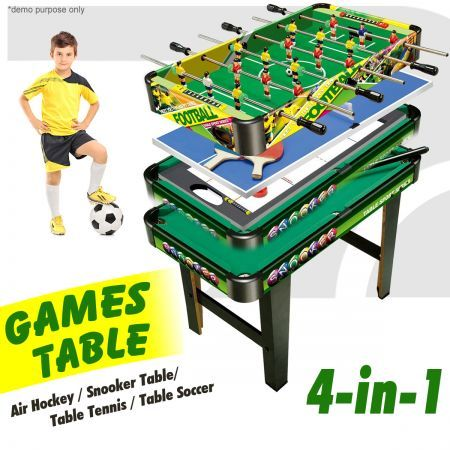 4-in-1  Games Table- Air Hockey / Pool / Foosball / Table Tennis