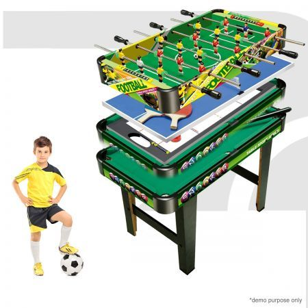 4-in-1  Games Table- Air Hockey / Pool / Foosball / Table Soccer