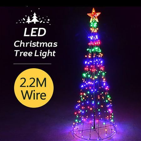 Giant Multi-Colour LED Christmas Tree -2.2M
