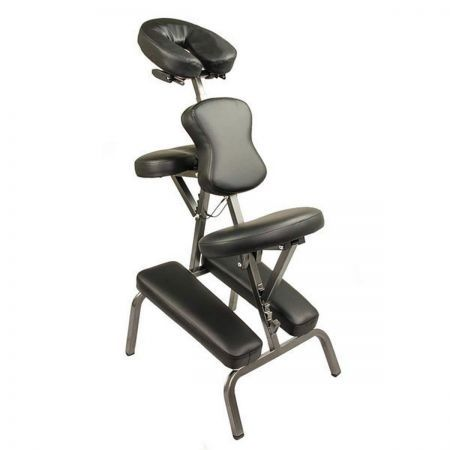 Portable Massage Chair Table - Black