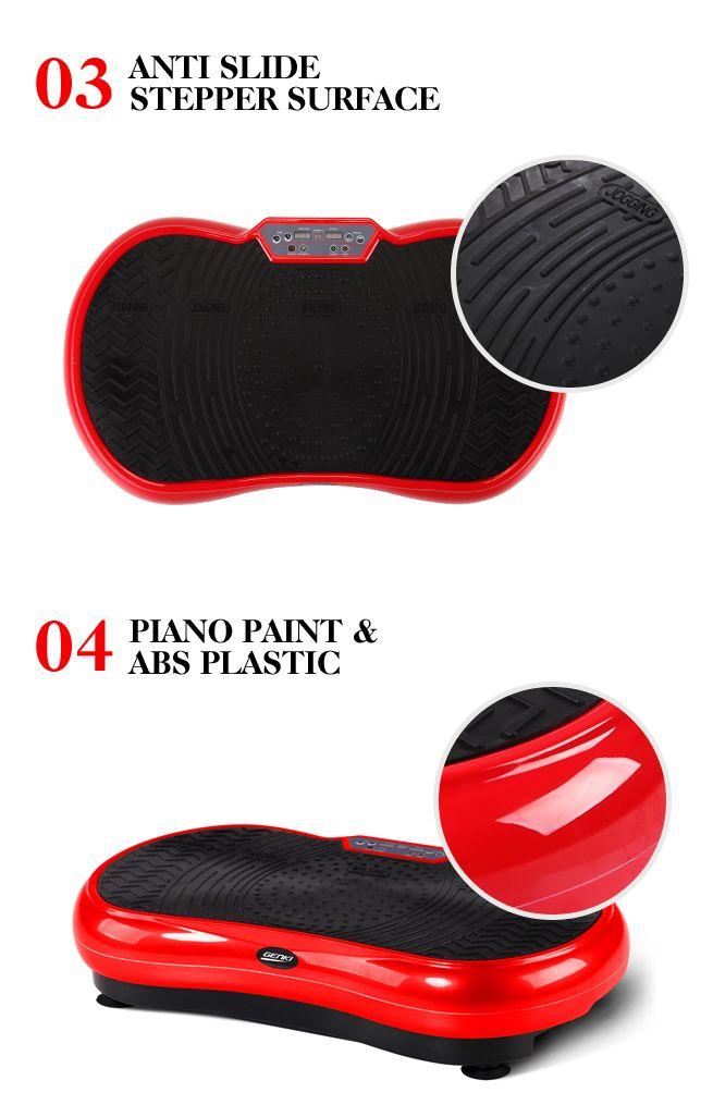 e958f590bfdd2 ... Red Vibrating Workout Platform Red Vibrating Workout Platform Genki  Ultra Slim Vibration Fitness Machine Body Shaper Platform 2nd Gen ...