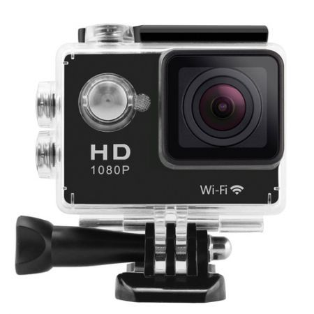 Waterproof 12MP WiFi Full HD 1080P 2.0 Inch Sports Camera DV DVR SJ4000 W9 -Black + Free 8 GB TF Card
