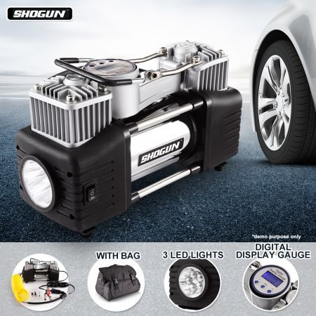 Shogun 12V Automatic digital air compressor 150Psi Car Tyre Inflator kit