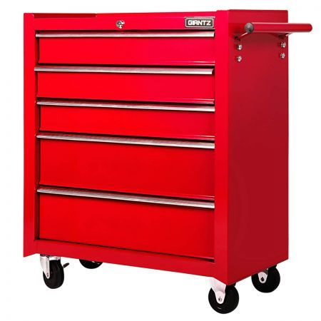 5 Drawers Roller Toolbox Cabinet - Red