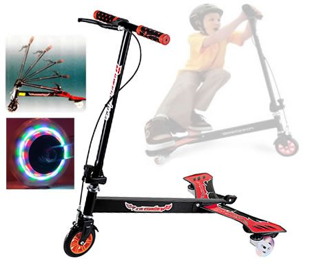 Powerwing Drifting Caster 3 Wheels Swing Scooter with Foldable Handle