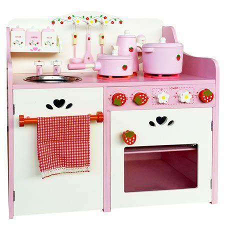 Children Wooden Kitchen Play Set Pink Crazy Sales