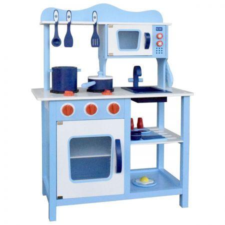 Children Wooden Kitchen Play Set Blue Crazy Sales