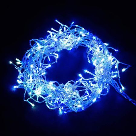 Jingle Jollys 800 LED Christmas Icicle - Lights Blue