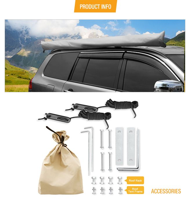 420D Oxford Pull Out Car Awning -2.5M x 3M   Crazy Sales
