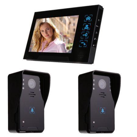 """7"""" Video Door Phone Intercom Doorbell Home Security Camera ..."""