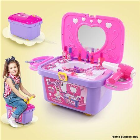 Kids Vanity Make-up Case Toy Storage Box | Crazy Sales