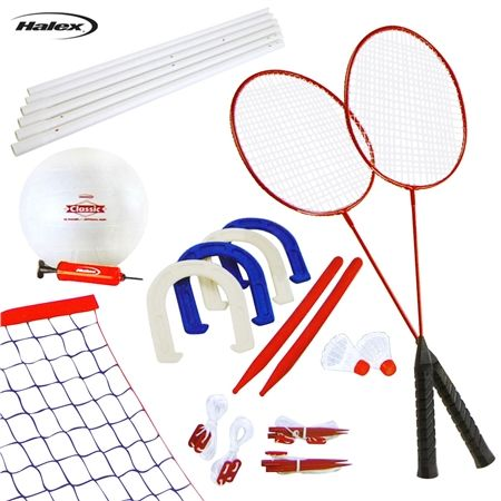 Halex Classic 3 Game Outdoor Set- Volleyball, Badminton ...