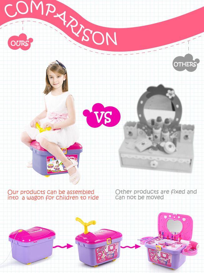 Kids Vanity Make Up Case Toy Storage Box Crazy Sales