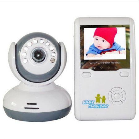 2 4g wireless digital video baby monitor intercom infrared night vision 2 4 i. Black Bedroom Furniture Sets. Home Design Ideas