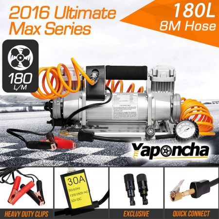 Yaponcha 12V Air Compressor 200PSI 180L 4WD Portable Car Tyre Inflator Kit
