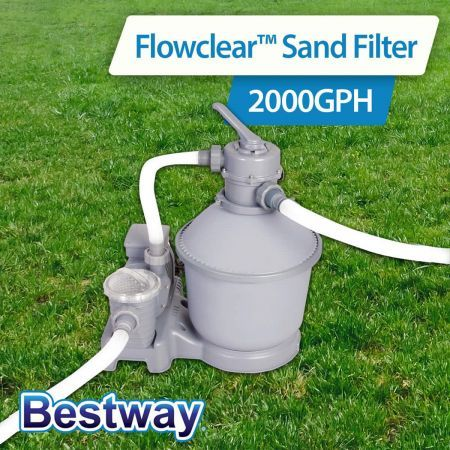 Bestway 2000gph Sand Filter Pump 58315 For Above Ground Swimming Pool Crazy Sales