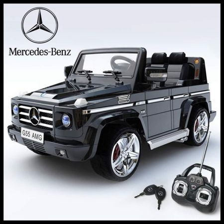 Mercedes benz g55 amg ride on car toy remote control for Remote control mercedes benz