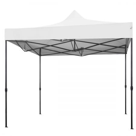 Perfect Oasis 3x3 Gazebo Tent Shade Canopy White Crazy