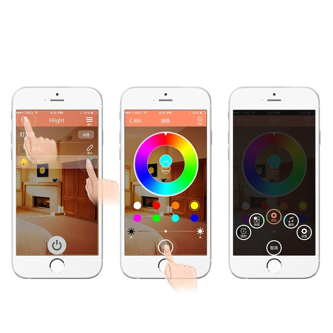 Smartphone Controlled Rgbw Color Changing Xmas Parties Led
