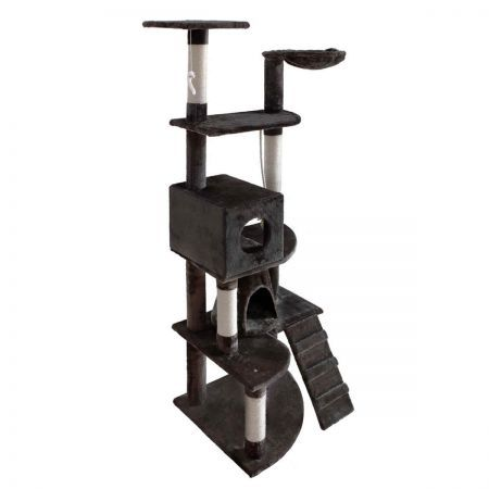Cat Scratching Poles Post Furniture Tree 193cm - Dark Grey