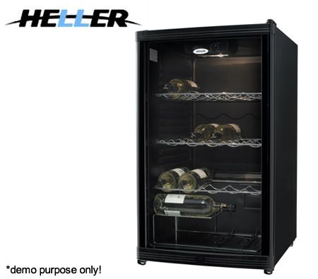 Heller 59 Bottle Wine Cooler Storage with Thermostat Control