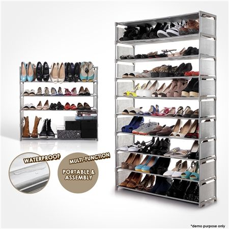 10-Tier Stackable Shoe Rack-50 Pair