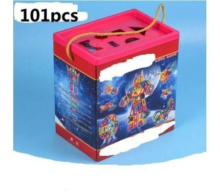 101pcs colorful magnetic building blocks educational toys