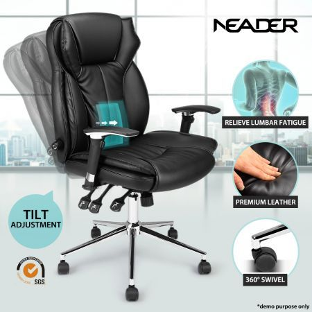 Ergonomic Leather Adjustable Office Chair