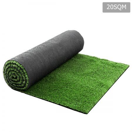 Artificial Grass 20 SQM Polypropylene Lawn Flooring 15mm - Olive