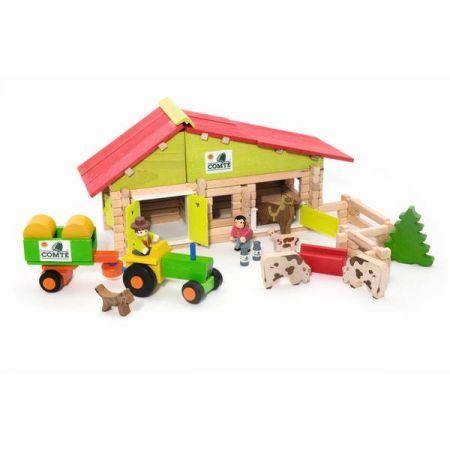 Farm - 140 Piece Wooden Construction Set